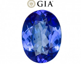 4.39 cts GIA Certified Tanzanite - Nearly Flawless - D Block Blue Color