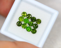 2.33ct Chrome Diopside Round Cut Lot V3229