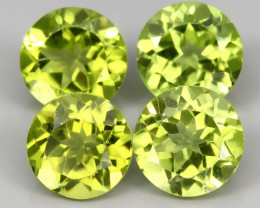⭐4 BRIGHT PERIDOT GEMS 6.00MM EACH