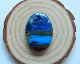 High quality shell ,blue opal, lapis lazuli gemstone intarsia cabochon  B30