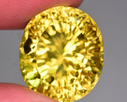 Millennium Cut 18.45 Ct Marvelous Color Natural Citrine ~ ARA