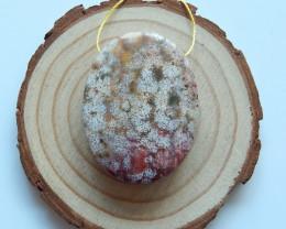 New Ocean Jasper Gemstone Pendant Bead Designer Making B317