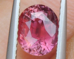 1.42cts No Heat, Certified  Pink Sapphire, Top Cut