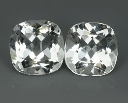 18.80 CTS DELUXE REAL WHITE12.16 MM NATURAL TOPAZ CUSHION UNHEATED!!