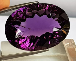 31.61cts Amethyst, Concave Cut, GIANT stone