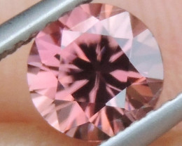 1.44cts Pink  Zircon,  Top Cut,  Clean,  Unheated