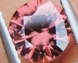 1.69cts Pink  Zircon,  Top Cut,  Clean,  Unheated