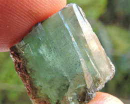 21.00ct EMERALD CRYSTAL CAB ROUGH SPECIMEN FROM AFGHANISTAN