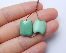 17.5ct Natural turquoise  earring beads ,designer making ,wholesale B288