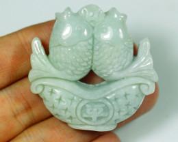199.0Ct Natural Grade A Carp Green Jadeite Jade