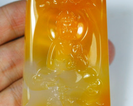 194.0Ct Natural Madagascar Chalcedony Guan Ying Carving