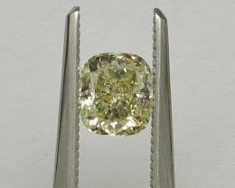 Natural Light Yellow Diamond GIA certified