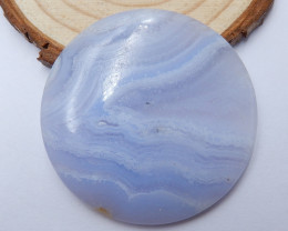 76cts  blue lace agate cabochon, semi-precious stones, jewelry B337