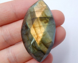 60.5cts Labradorite Cabochon, Birthstone, Faceted Bead,Healing Stone B332
