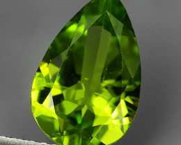 2.55 Cts High Best Natural Apple Green pear Pakistan Peridot~