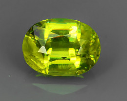 1.65 CTS SPARKLING NATURAL ULTRA RARE MULTI GREENISH-YELLOW COLOR  SPHENE!