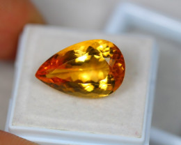 10.99ct Yellow Citrine Pear Cut Lot V3242