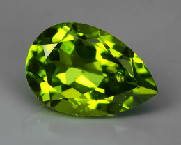 4.15 Cts High Best Natural Apple Green pear Pakistan Peridot~