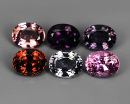 2.65 CTS~ADAROBLE RARE NATURAL FANCY SPINEL TOP COLOR 6 PCS!!