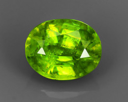 1.60 Cts:Lustrous Vivid Greenish Yellow Hue Natural Sphene!!