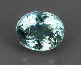 2.35 Cts Sparkling Luster - Oval Gem - Natural Blue -Aquamarine NR!!!