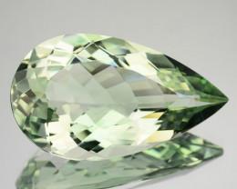 14.34 Cts Natural Prasiolite / Mint Green Amethyst Pear Cut Brazil