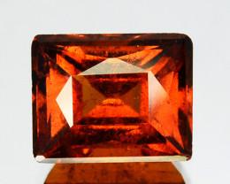 2.59 Cts Natural Cinnamon Orange Hessonite Garnet Baguette Cut Sri Lanka
