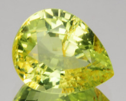 1.84 Cts Natural Lime Green Chrysoberyl Pear Cut Sri Lanka