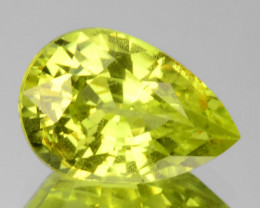 2.27 Cts Natural Lime Green Chrysoberyl Pear Cut Sri Lanka