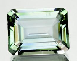 2.81 Cts Natural Tanzanite Bi-Color Blue - Green Octagon (Emerald Cut) Tanz