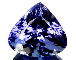 ~LOVELY~ 9.23 Cts Natural Tanzanite Purplish Blue Heart mix Pear Cut Tanzan