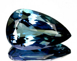 6.98 Cts Natural Tanzanite Greenish Blue Pear Cut Tanzania