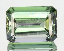 3.55 Cts Natural Tanzanite Bluish Green Octagon (Emerald Cut) Tanzania
