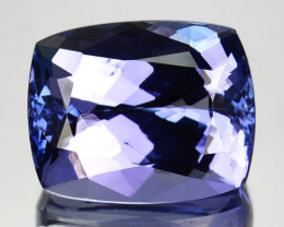 ~DAZZLING~ 7.59 Cts Natural Tanzanite Purplish Blue Cushion Cut Tanzania