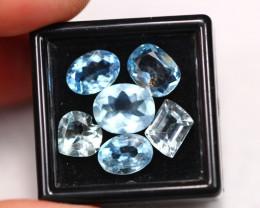11.58Ct Natural VS Blue Aquamarine Lot  ~ E3110