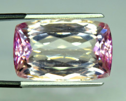 NR 33.15 cts Huge Size Top Grade Peach Pink Kunzite Gemstone