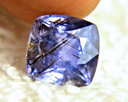 CERTIFIED - 4.48 Carat Violet Rutile Sapphire - Gorgeous