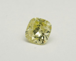 Natural 0.90ct Fancy Yellow Diamond GIA certified
