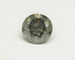 Natural 2.01ct Fancy Dark Greenish Grey Diamond GIA certified
