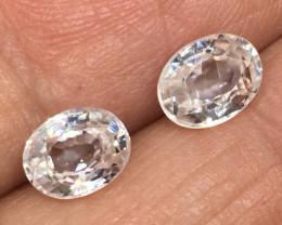 4.55 Carat VS Zircon Pair - Diamond White Color - Flashy Quality !