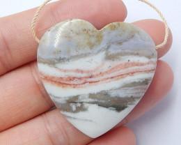 Ocean Jasper Pendant ,Natural Ocean Jasper ,Heart Pendant ,Wholesale B351