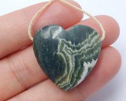 Ocean Jasper Pendant ,Natural Ocean Jasper ,Heart Pendant ,Wholesale B353