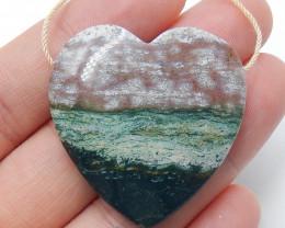 Ocean Jasper Pendant ,Natural Ocean Jasper ,Heart Pendant ,Wholesale B354