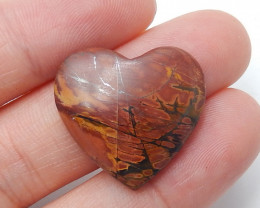 Multi color Jasper Pendant ,Natural  Jasper ,Heart Pendant ,Wholesale B372