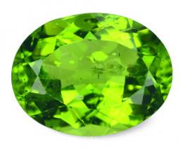6.33 Cts NATURAL FANCY  GREEN COLOR PERIDOT LOOSE GEMSTONE