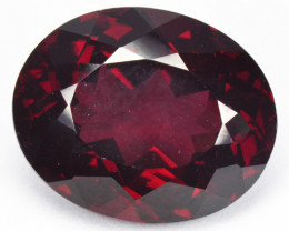 9.78 Cts NATURAL FANCY DEEP PINKISH RED RHODOLITE GARNET LOOSE GEMSTONE
