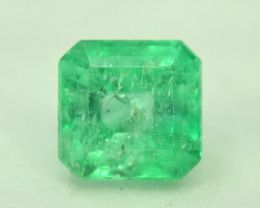 Certified 1.11 Carats ^ Emerald Cut Natural Colombian Emerald Gemstone