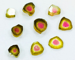 18 carat Watermelon Tourmaline slices