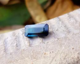 1.45 Ct Natural Dark Blue Transparent Tourmaline Gem