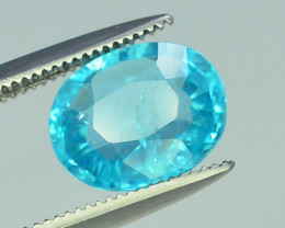 Great Luster 1.85 ct  Rarest Neon Blue Color Apatite